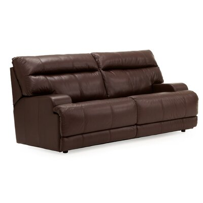 Lincoln Leather Loveseat Upholstery: All Leather Protected - Tulsa II Sand, Type: Power