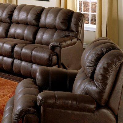 Harlow Swivel Rocker Recliner Upholstery: Leather/PVC Match - Tulsa II Dark Brown