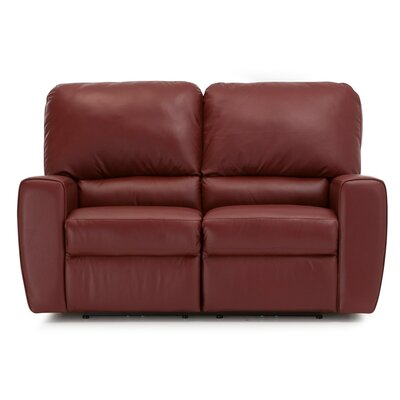 San Francisco Leather Reclining Loveseat Upholstery: Leather/PVC Match - Tulsa II Bisque, Type: Power