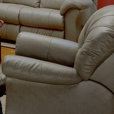 Tracer Rocker Recliner Upholstery: Leather/PVC Match - Tulsa II Bisque, Type: Manual