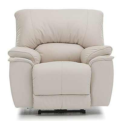 Dallin Wall Hugger Recliner Upholstery: Leather/PVC Match - Tulsa II Bisque, Type: Power