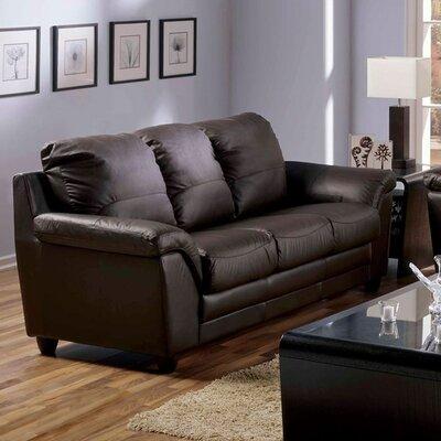 Sirus Leather Modular Sofa Upholstery: Khaki