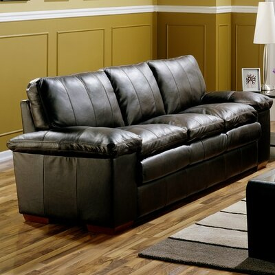 Polluck Sofa Upholstery: Bonded Leather - Champion Onyx