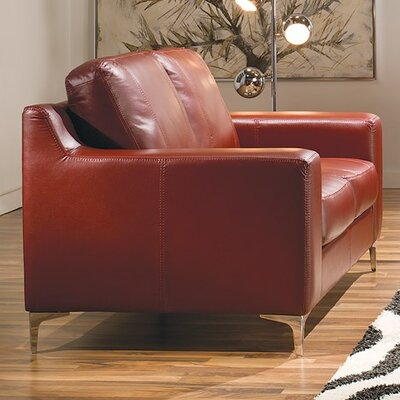 Sonora Armchair Upholstery: Leather/PVC Match - Tulsa II Chalk