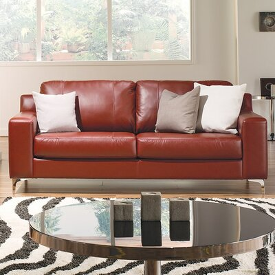 Sonora Loveseat Upholstery: Leather/PVC Match - Tulsa II Dark Brown