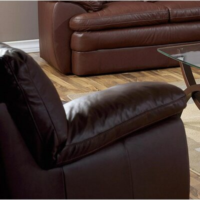 Marcella Armchair Upholstery: Leather/PVC Match - Tulsa II Jet