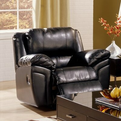Daley Rocker Recliner Upholstery: Bonded Leather - Champion Onyx, Type: Power