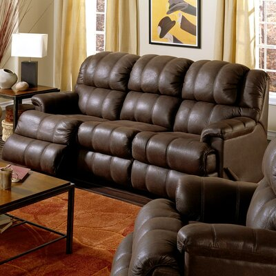 Harlow Leather Reclining Sofa Upholstery: Bonded Leather - Champion Khaki, Type: Power