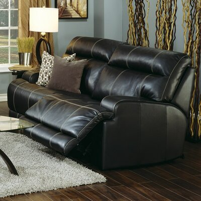 Lincoln Leather Loveseat Upholstery: All Leather Protected - Tulsa II Jet, Type: Manual