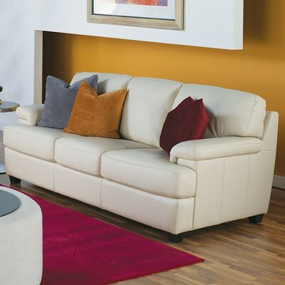 Morehouse Sofa Upholstery: All Leather Protected  - Tulsa II Chalk