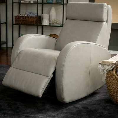 Jasper II Rocker Recliner Upholstery: Leather/PVC Match - Tulsa II Chalk