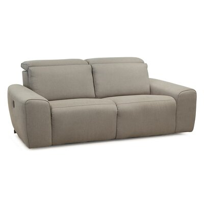 Beaumont Reclining Sofa Type: Manual, Upholstery: Leather/PVC Match - Tulsa II Bisque