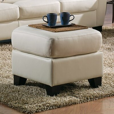 Marymount Ottoman Upholstery: Bonded Leather - Champion Alabaster