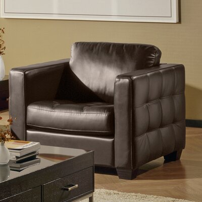 Barrett Arm Chair Upholstery: All Leather Protected - Tulsa II Dark Brown, Upholstery: Bonded Leather - Champion Mink