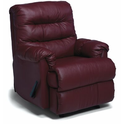 Columbus Rocker Recliner Type: Manual, Upholstery: Leather/PVC Match - Tulsa II Jet