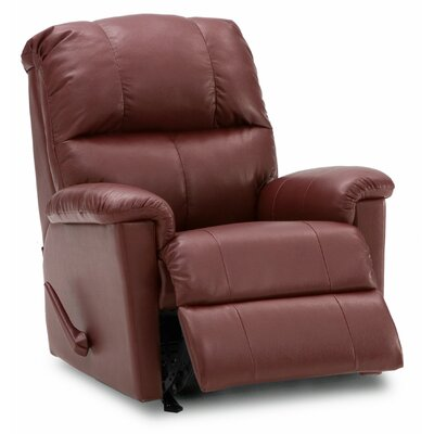 Gilmore Rocker Recliner Upholstery: Leather/PVC Match - Tulsa II Jet, Type: Manual