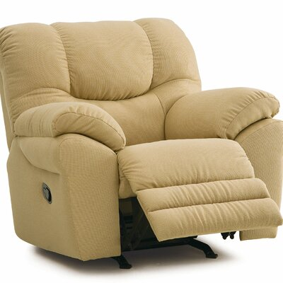 Divo Rocker Recliner Upholstery: All Leather Protected - Tulsa II Sand, Type: Power