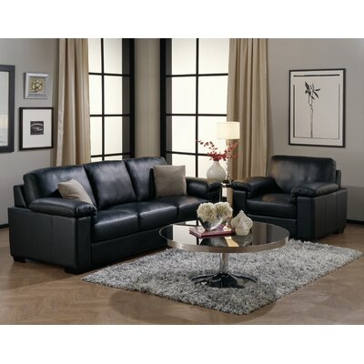 Living Room Leather on Furniture Westend 2 Piece Leather Living Room Set   77322 Leather