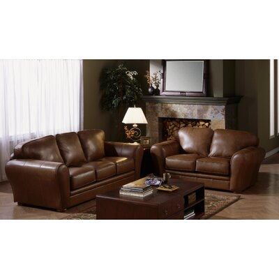 Discount Living Room  on Furniture Natalia 2 Piece Leather Living Room Set   77735 Leather