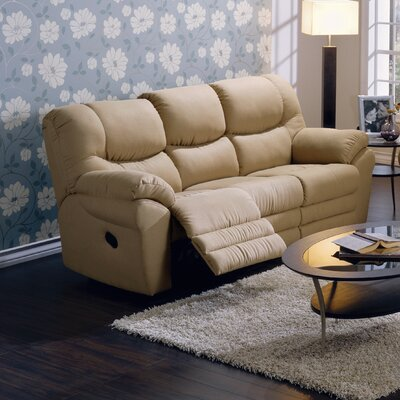 Divo Reclining Sofa Type: Power, Upholstery: All Leather Protected - Tulsa II Stone