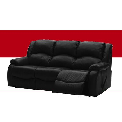 Dane Leather Reclining Sofa Type: Manual, Upholstery: All Leather Protected - Tulsa II Jet