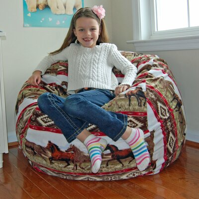 Southwest Horses Anti-Pill Fleece Bean Bag Chair