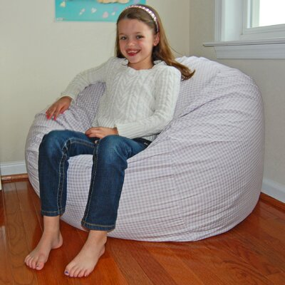 Bean Bag Chair Upholstery: Lavender / White