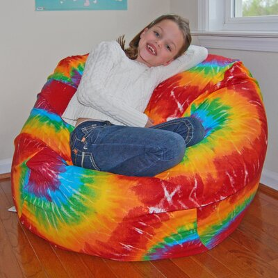 Bean Bag Chair Upholstery: Rainbow Tie