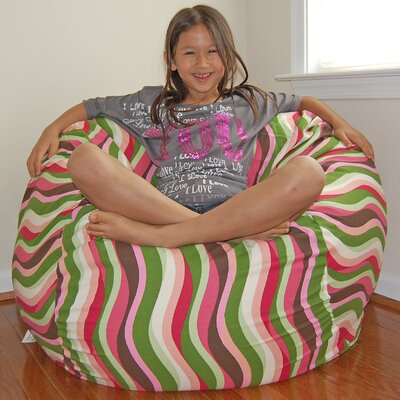 Bean Bag Chair Upholstery: Guava