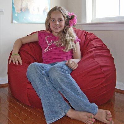 Bean Bag Chair Upholstery: Dark Red