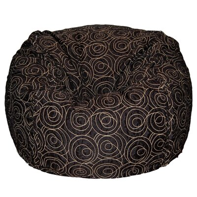 Bean Bag Chair Upholstery: Black