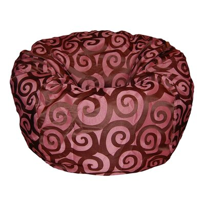 Bean Bag Chair Upholstery: Plum / Brown