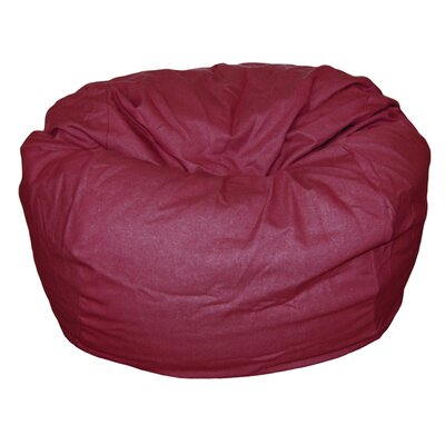 Bean Bag Chair Upholstery: Brick Red