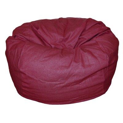 Bean Bag Chair Upholstery: Brick Red