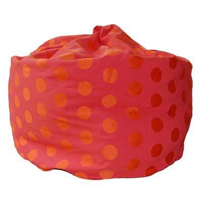 Bean Bag Chair Upholstery: Hot Pink / Orange