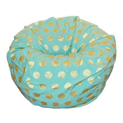 Bean Bag Chair Upholstery: Aqua / Chartreuse