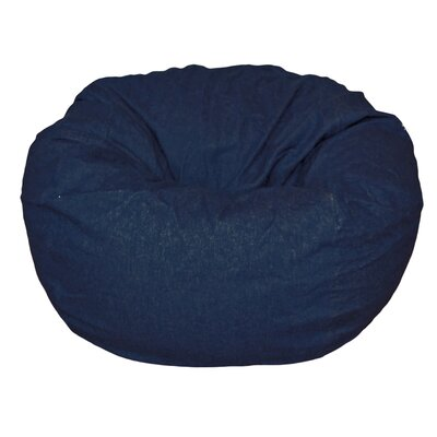 Bean Bag Chair Upholstery: Dark Blue