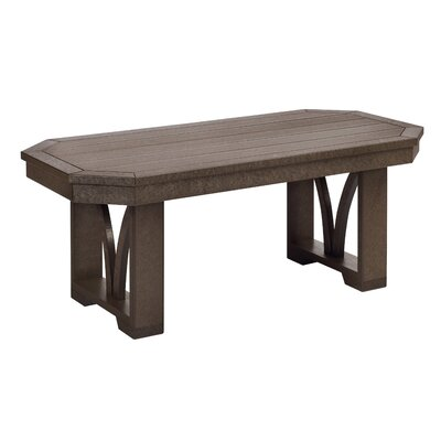 Raja Rectangle Coffee Table Finish: Chocolate
