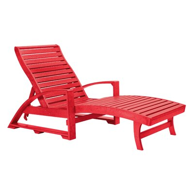 Raja Chaise Lounge Finish: Red