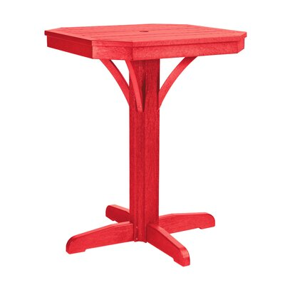 Raja Square Bar Table Finish: Red