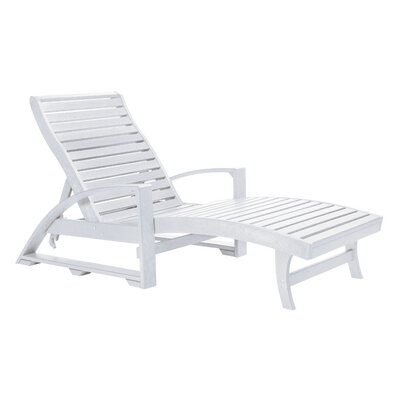 Raja Chaise Lounge Finish: White