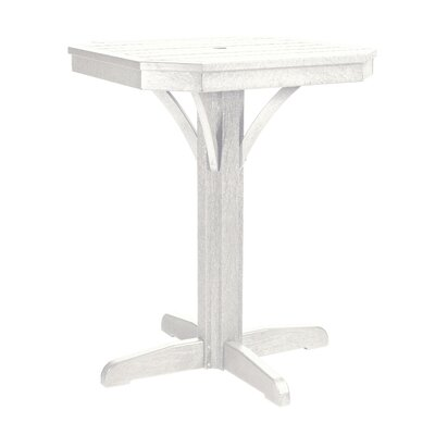 Raja Square Bar Table Finish: White