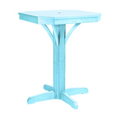 Raja Square Bar Table Finish: Aqua