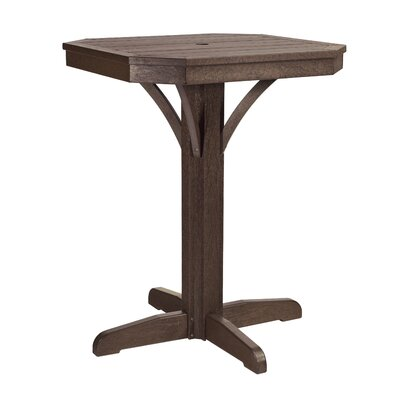 Raja Square Bar Table Finish: Chocolate