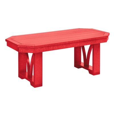 Raja Rectangle Coffee Table Finish: Red