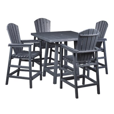 Captiva 5 Piece Pub Table Set Finish: Graystone