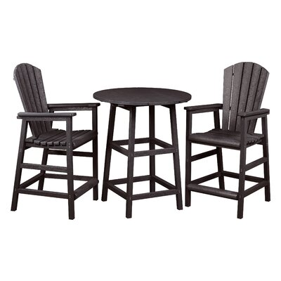 Captiva 3 Piece Pub Table Set Finish: Espresso