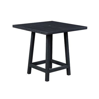 Zander Square Pub Table Finish: Onyx