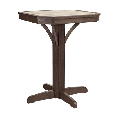 Raja Square Bar Table Finish: Chocolate/Beige