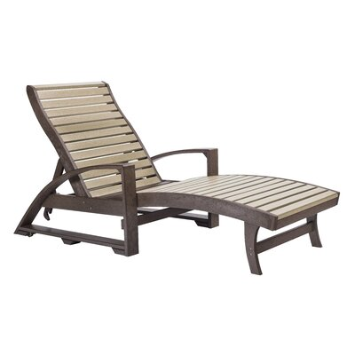 St. Tropez Chaise Lounge Finish: Chocolate/Beige